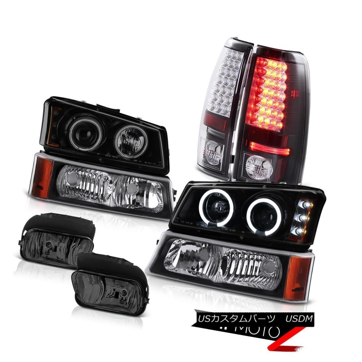 テールライト 03-06 Silverado Black Smoke CCFL Headlights Bumper Tail Lamps Driving Foglights 03-06 Silverado Black Smoke CCFLヘッドライトバンパーテールランプ
