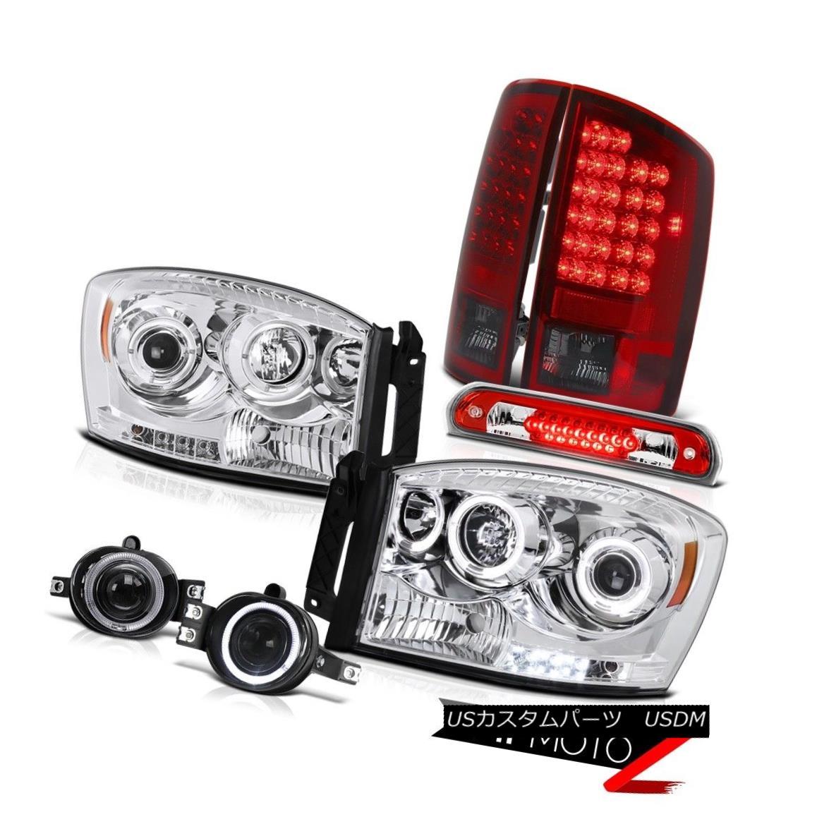 テールライト Headlights Burgundy LED Taillights Driving Fog Third 2006 Dodge Ram TurboDiesel ヘッドライトバーガンディーLEDテールライトドライビングフォグ2006年3月ダッジラムターボディーゼル
