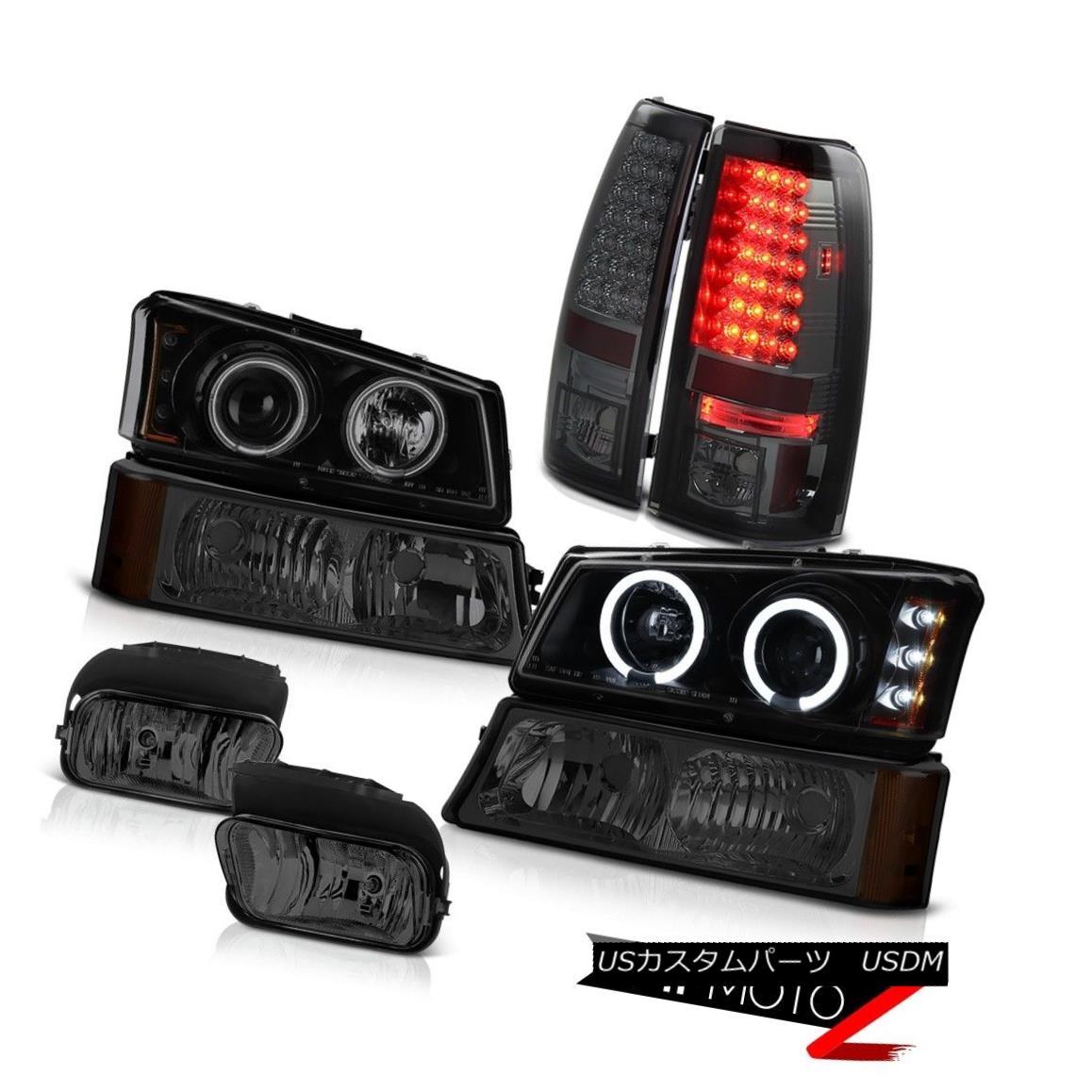テールライト CCFL Halo Headlight Headlamps Tint LED Tail Lights Foglight 03-06 Silverado 1500 CCFL Haloヘッドライトヘッドランプ色合いテールライトテールライトFoglight 03-06 Silverado 1500