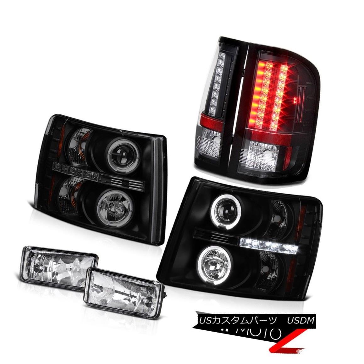 テールライト 2007-2013 Chevy Silverado Z71 Smoke Headlights+Driving Fog+ Bright LED Tail Lamp 2007-2013シボレーシルバラードZ71スモークヘッドライト+ドライ vingフォグ+ブライトLEDテールランプ