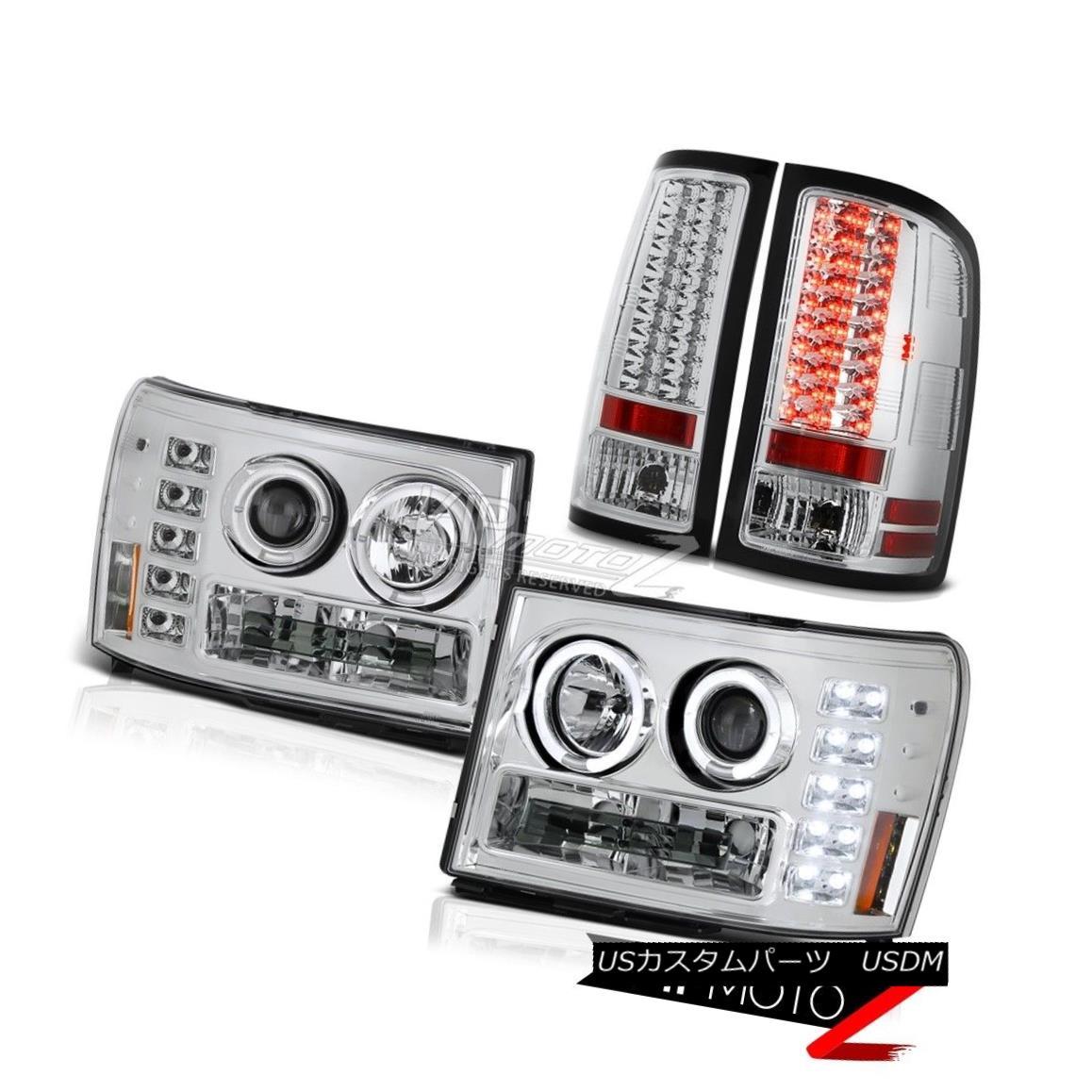 テールライト 2007 2008 2009 GMC Sierra 2500HD Denali Twin Halo LED Headlamp Bright Tail Light 2007年2008年2009 GMC Sierra 2500HDデナリ・ツイン・ハローLEDヘッドライトブライトテールライト