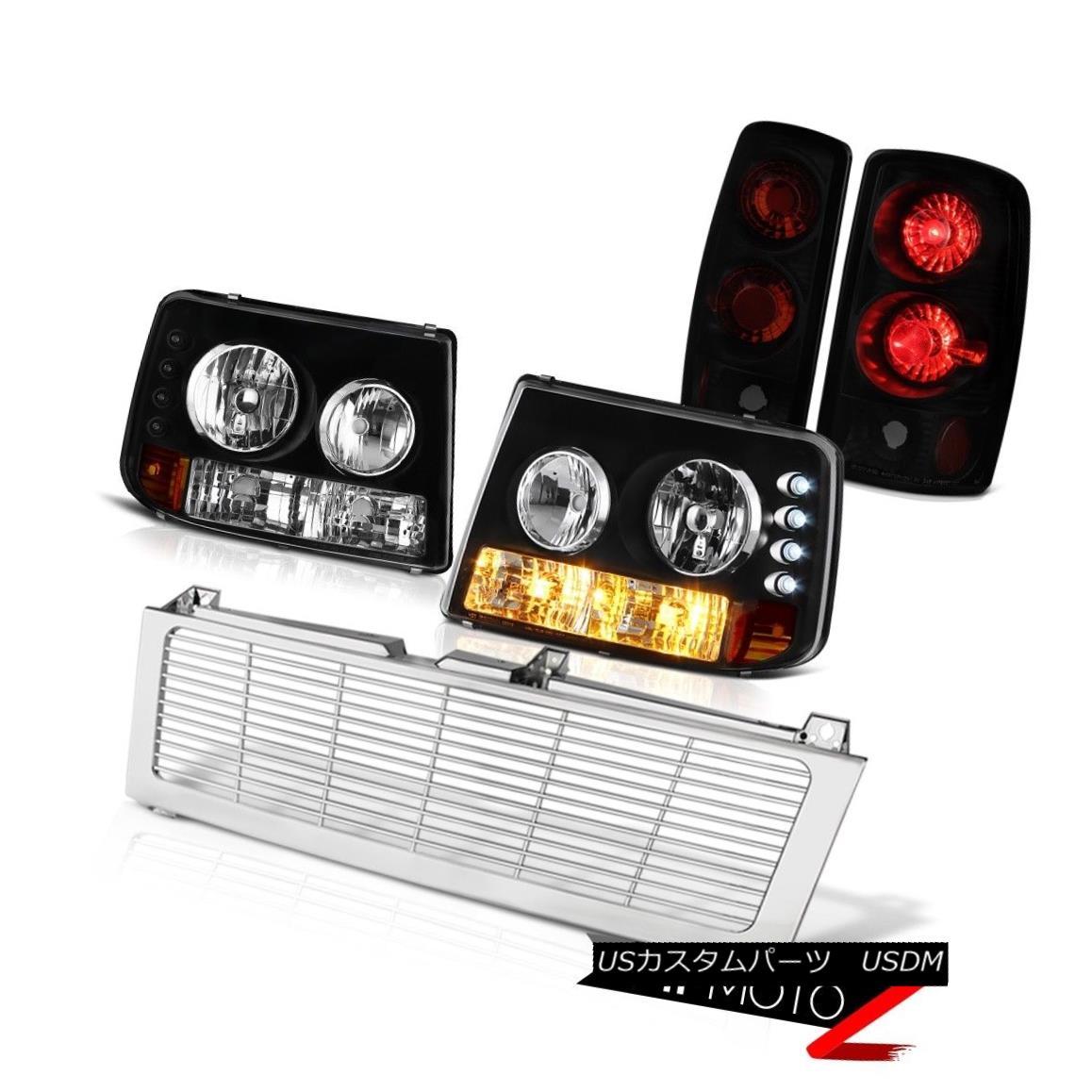 テールライト 00-06 Tahoe Z71 Bumper Headlights Sinister Black Brake Tail Lights Chrome Grille 00-06タホZ71バンパーヘッドライトシニスターブラックブレーキテールライトクロームグリル