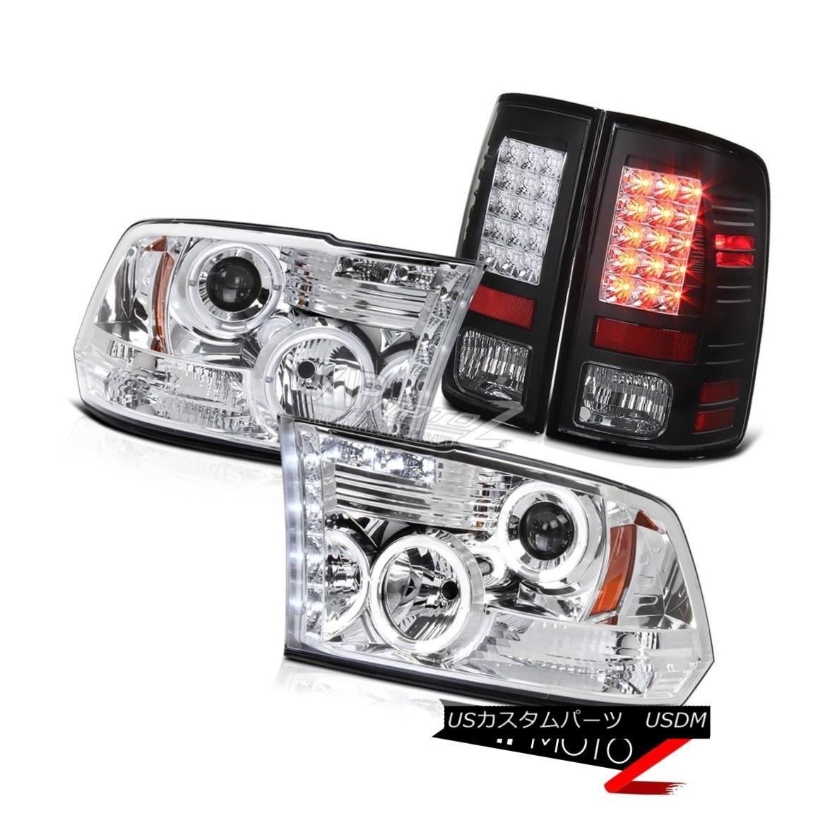 テールライト Projector Headlight+Black LED Tail Light Dodge Ram 2009-2014 2015 2016 2017 2018 プロジェクターヘッドライト+ Blac k LEDテールライトドッジラム2009-2014 2015 2016 2017 2018