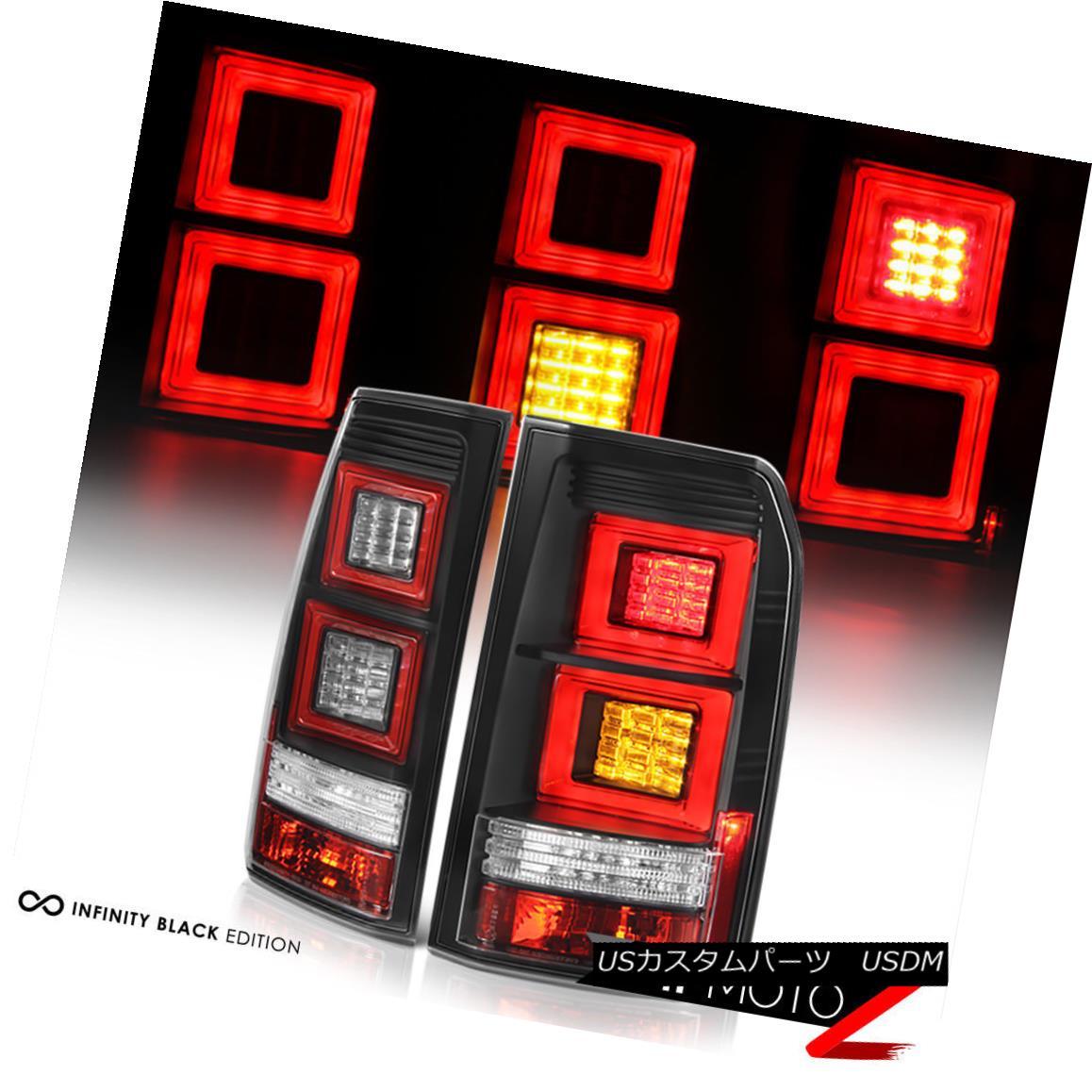 テールライト 2010-2014 Land Rover LR4 Discovery [EURO SPEC] Black LED Signal Brake Tail Light 2010-2014 Land Rover LR4ディスカバリー[EURO SPEC]ブラックLED信号ブレーキテールライト