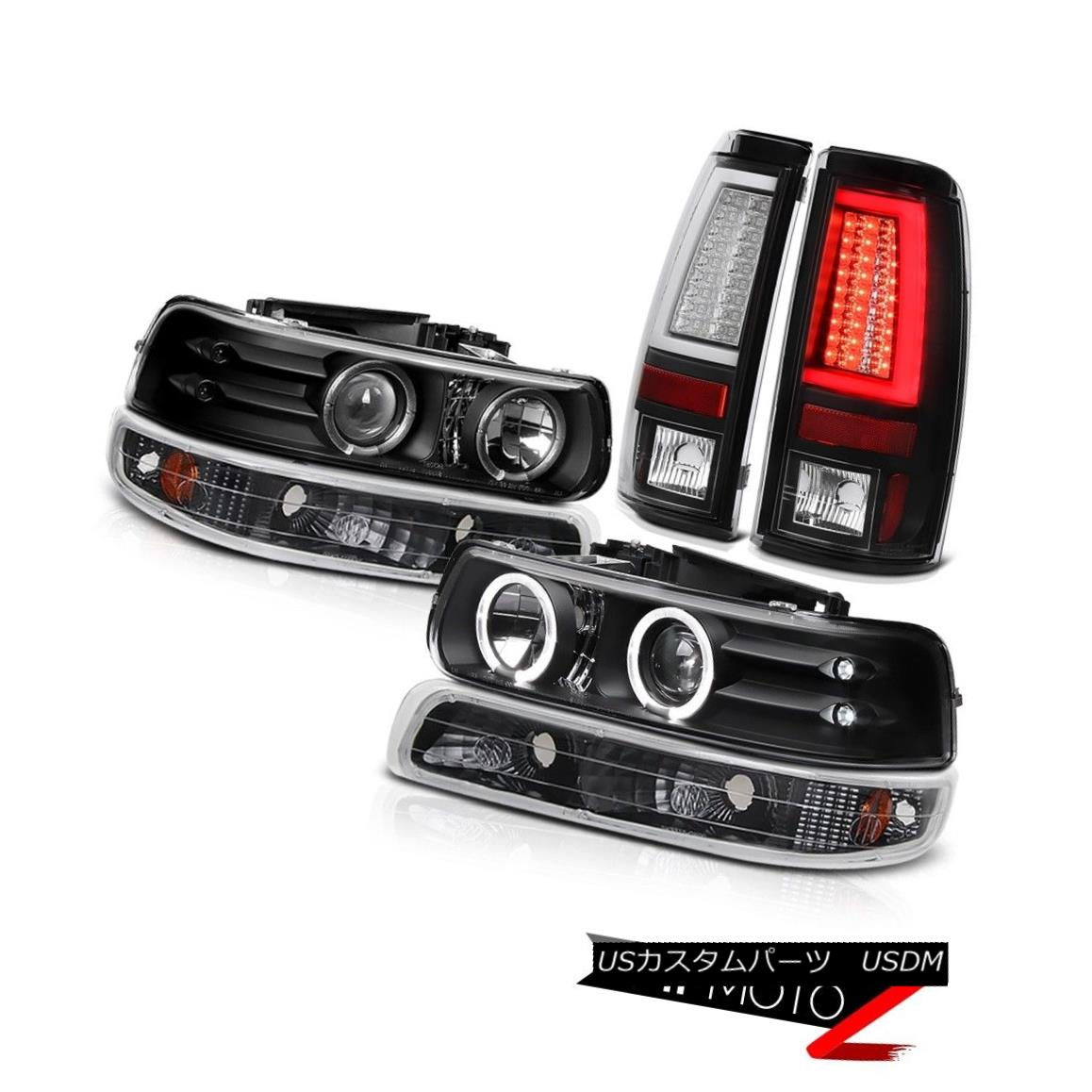テールライト 99-02 Silverado WT Tail Lamps Fog Bumper Light Headlights LED Halo Rim Dual Halo 99-02 Silverado WTテールランプフォグバンパーライトヘッドライトLED Halo Rimデュアルヘイロー