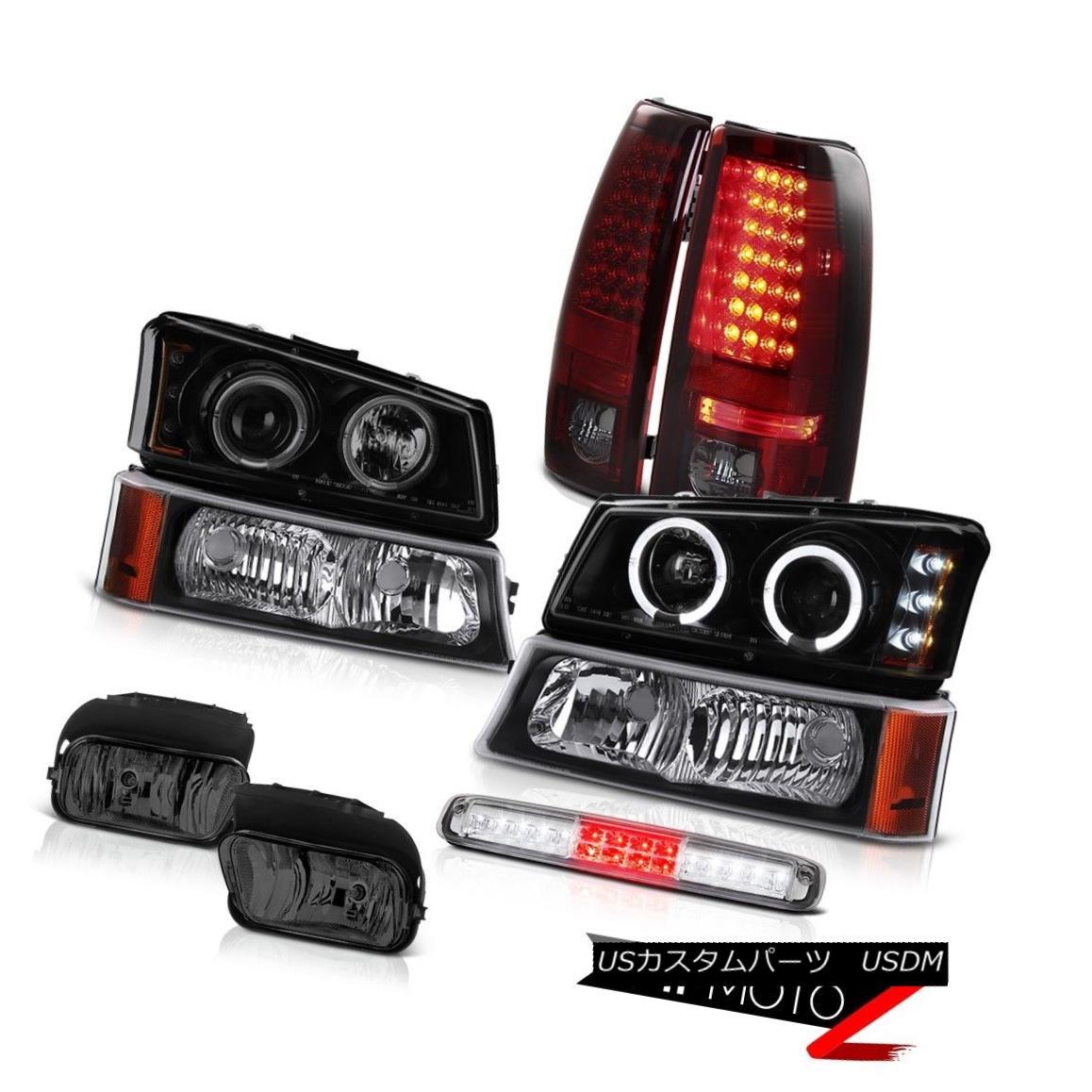 テールライト 03-06 Silverado Fog Lights Raven Black Signal Lamp Roof Cab Headlamps Tail Lamps 03-06シルヴァーラドフォグライトレイヴンブラックシグナルランプルーフキャブヘッドランプテールランプ