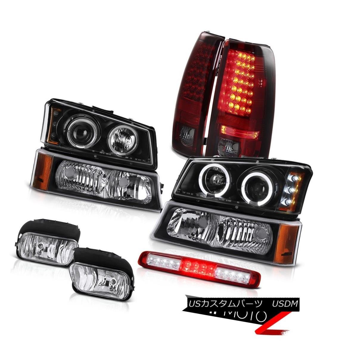 テールライト 03 04 05 06 Chevy Silverado Foglamps Bumper Lamp 3RD Brake Headlamps Rear Lights 03 04 05 06 Chevy Silveradoフォグランプバンパーランプ3RDブレーキヘッドランプリアライト