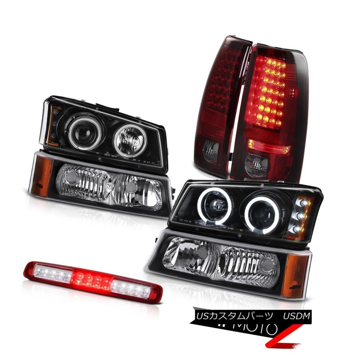 テールライト 2003-2006 Silverado Bumper Light 3RD Brake Headlights Burgundy Red Taillights 2003-2006シルバラードバンパーライト3RDブレーキヘッドライトブルゴーニュレッドティール