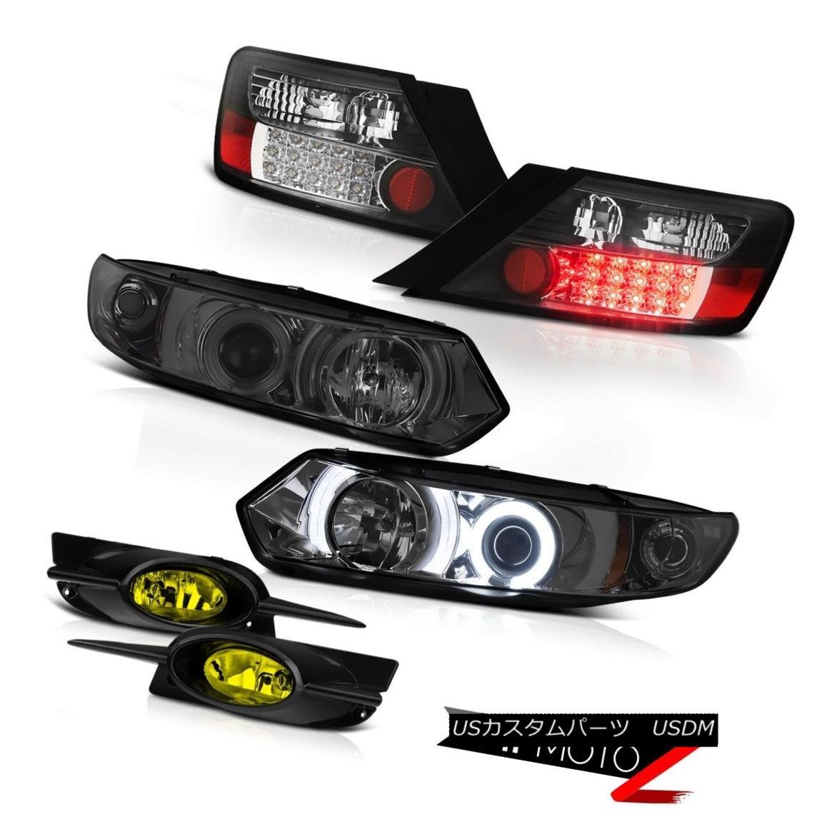 テールライト 09-11 Civic 2D EX Projector Halo DRL Headlights BLACK LED Tail Light Driving Fog 09-11 Civic 2D EXプロジェクターHalo DRLヘッドライトBLACK LEDテールライトドライビングフォグ