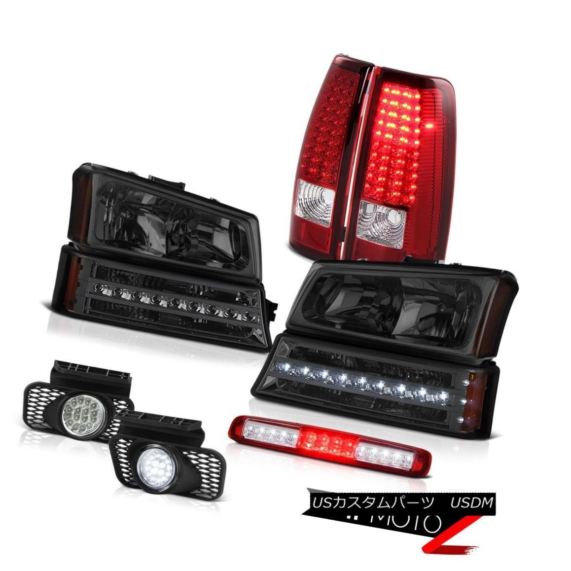 テールライト 2003-2006 Silverado Red Third Brake Lamp Headlights Fog Lamps Signal Tail Lamps 2003-2006シルバラードレッド第3ブレーキランプヘッドライトフォグランプ信号テールランプ