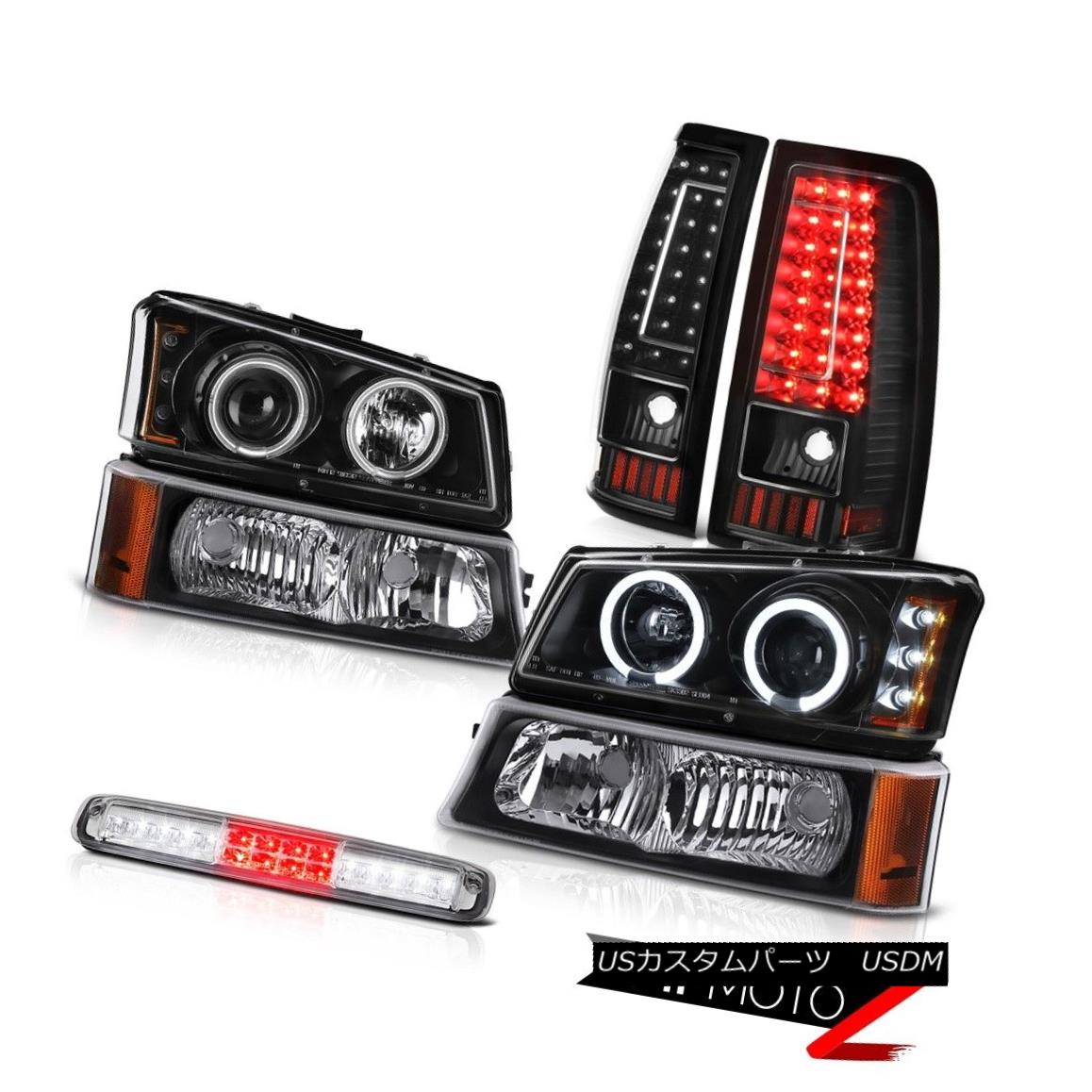 テールライト 03-06 Chevy Silverado Euro Chrome High Stop Light Tail Lamps Bumper Headlamps 03-06 Chevy Silverado Euro Chromeハイストップライトテールランプバンパーヘッドランプ