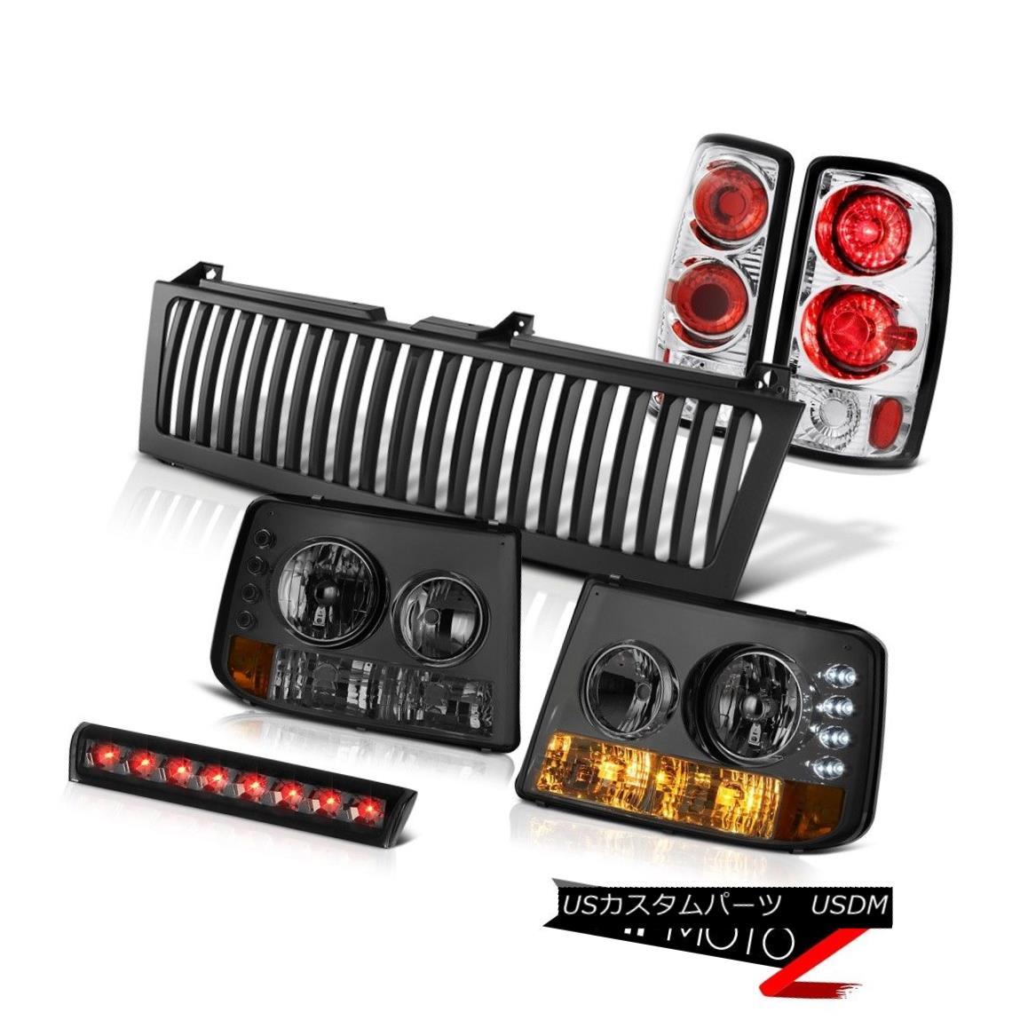 テールライト 04 05 06 Suburban LT Headlight Rear Brake Lamps High Stop LED Smoke Black Grille 04 05 06郊外のLTヘッドライトリアブレーキランプハイストップLEDスモークブラックグリル