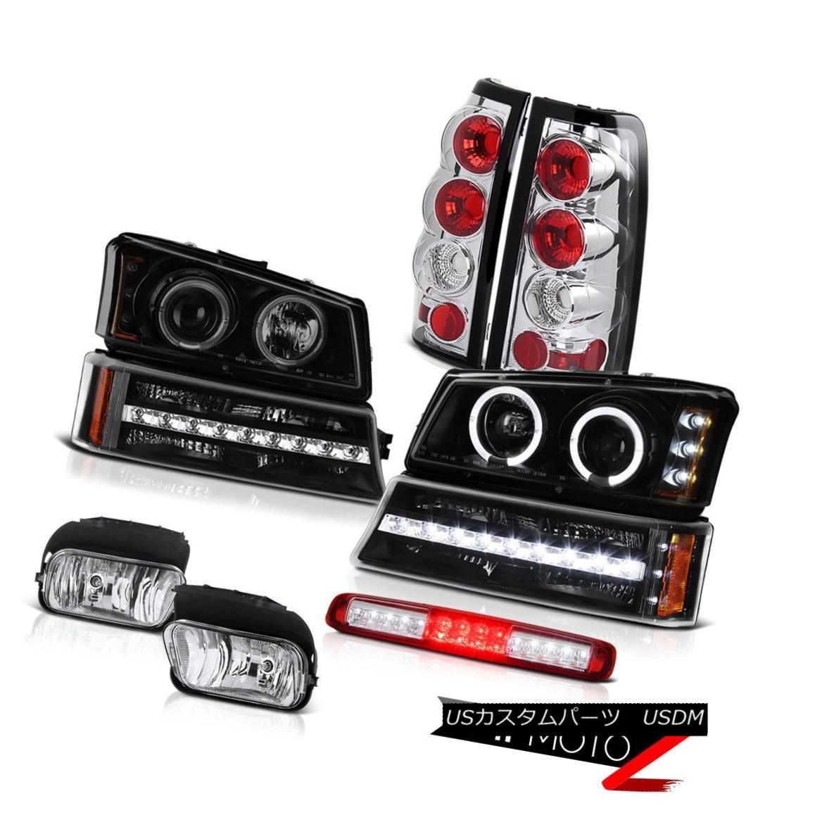 テールライト 03-06 Silverado 2500Hd Foglamps 3RD Brake Light Black Bumper Headlamps Taillamps 03-06 Silverado 2500Hdフォグランプ3RDブレーキライトブラックバンパーヘッドランプタイルランプ