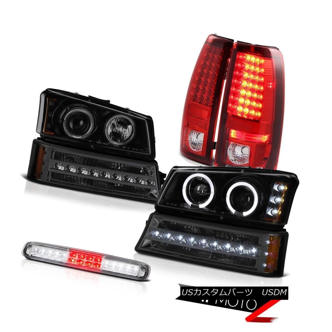 テールライト 03-06 Silverado Third Brake Lamp Dark Smoke Signal Headlamps Red Tail Lights 03-06 Silverado第3ブレーキランプダークスモークシグナルヘッドランプレッドテールライト