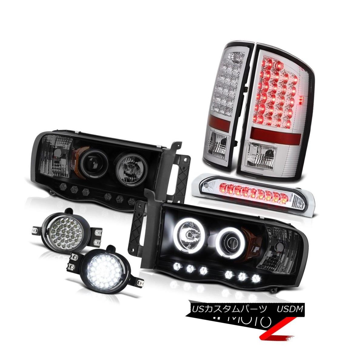 テールライト 02-05 Ram 1500 Laramie CCFL Halo Headlights LED Tail Lights Fog 3rd Brake Lights 02-05 Ram 1500 Laramie CCFL HaloヘッドライトLEDテールライトフォグ3rdブレーキライト