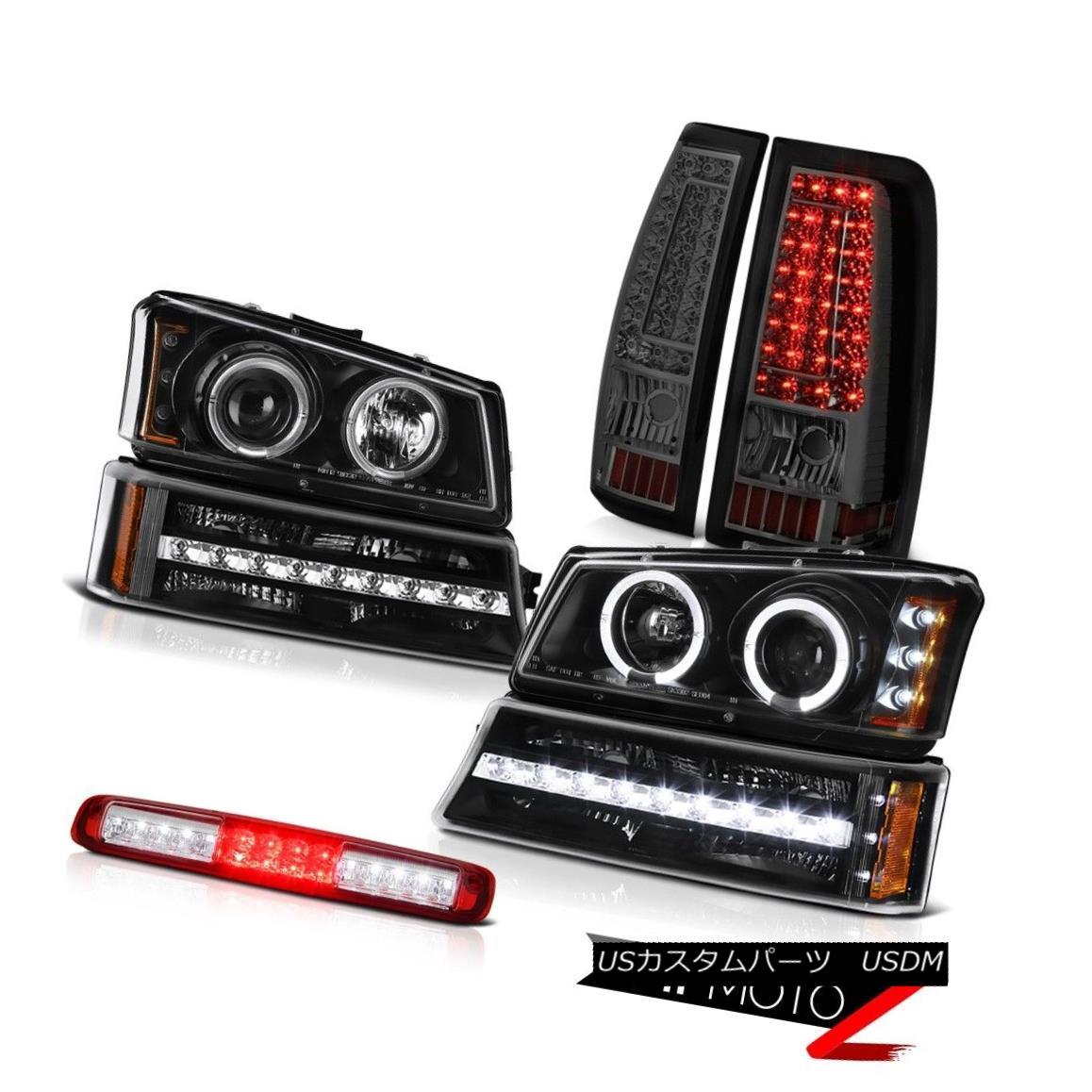 テールライト 03-06 Silverado 1500 3RD Brake Light Dark Smoke Taillights Signal Headlamps LED 03-06 Silverado 1500 3RDブレーキライトダークスモークダークライトヘッドランプLED