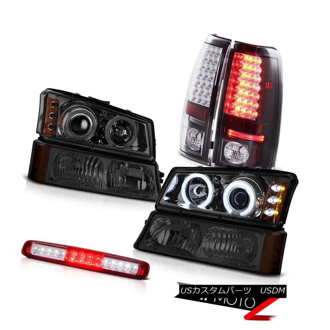 テールライト 03-06 Silverado 1500 Smoked Turn Signal 3RD Brake Light Headlights Tail Lamps 03-06 Silverado 1500スモークターンシグナル3RDブレーキライトヘッドライトテールランプ