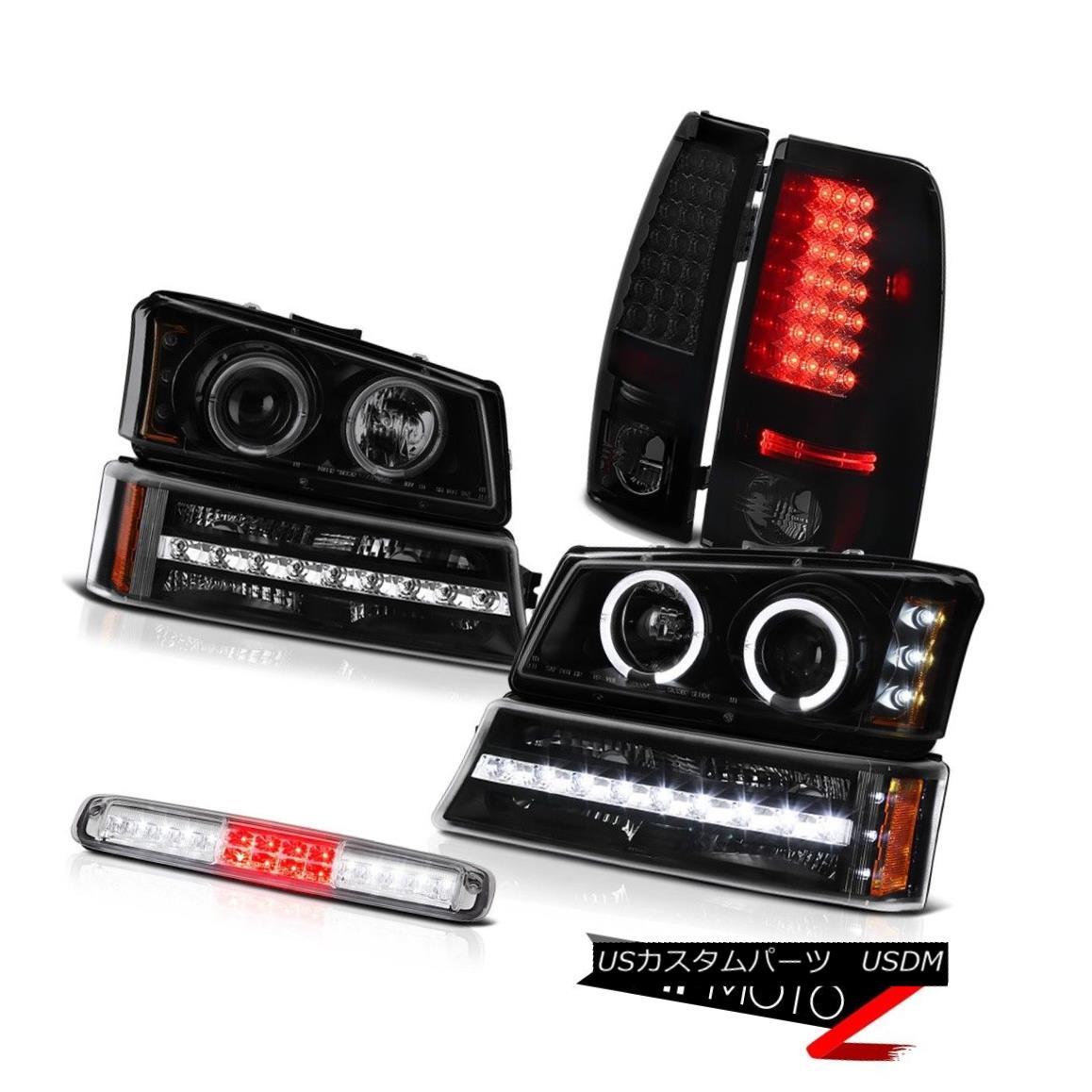 テールライト 03-06 Chevy Silverado Third Brake Light Matte Black Bumper Headlamps Taillights 03-06 Chevy Silverado Thirdブレーキライトマットブラックバンパーヘッドランプ