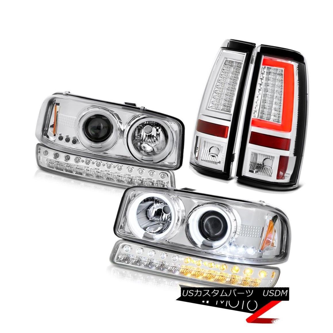 テールライト 1999-2006 GMC Sierra Taillights Signal Lamp CCFL Headlights Halo Ring Halo Rim 1999-2006 GMC Sierraティアライト信号ランプCCFLヘッドライトHalo Ring Halo Rim