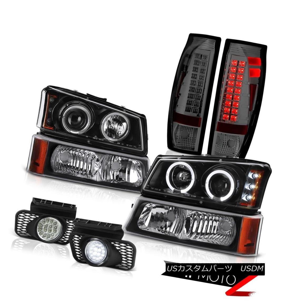 テールライト 03-06 Avalanche Chrome Foglights Smoked Rear Brake Lights Bumper Lamp Headlights 03-06アバランシェクロムフォグライトスモークリアブレーキライトバンパーランプヘッドライト
