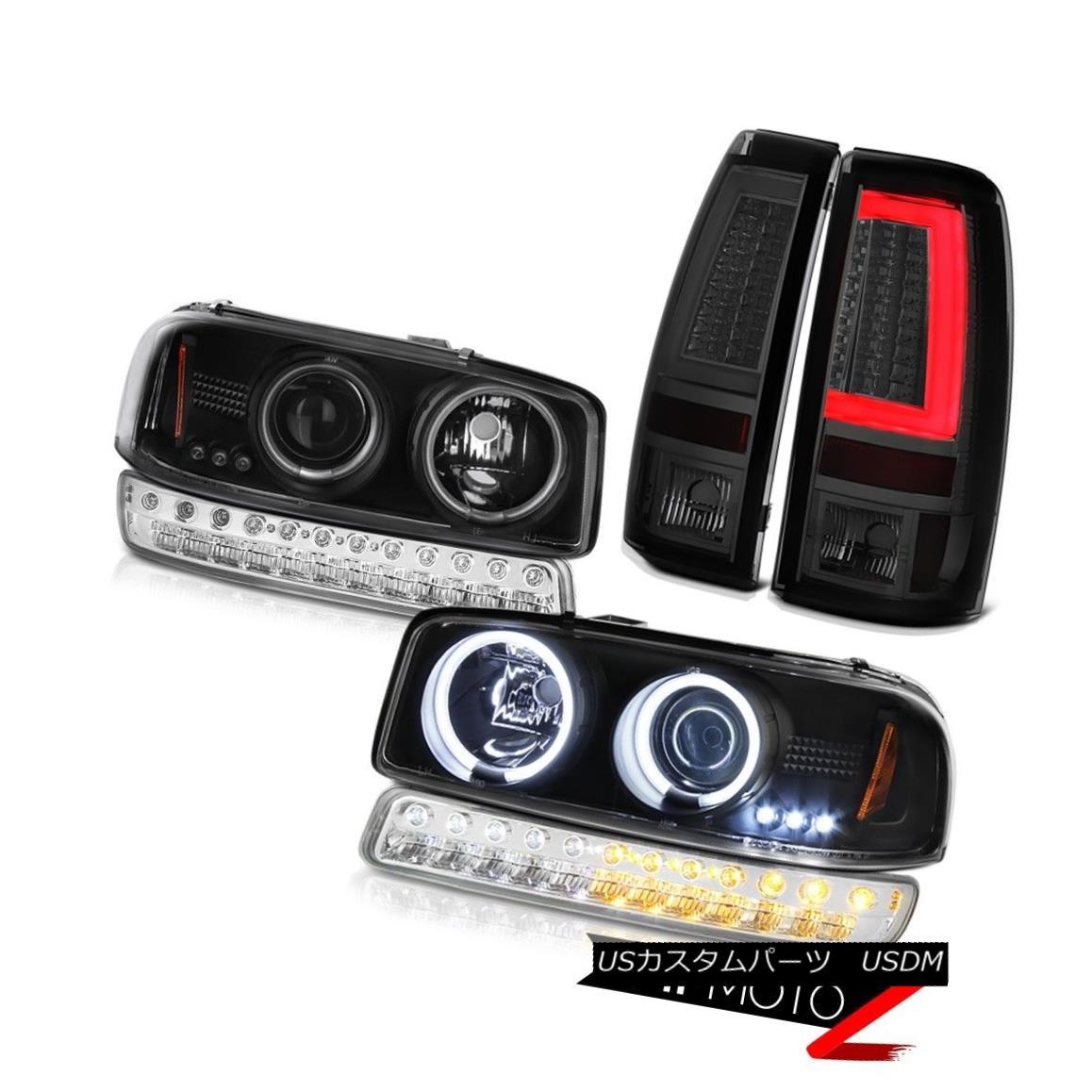 テールライト 1999-2006 Sierra SLT Taillights Chrome Parking Lamp CCFL Headlights