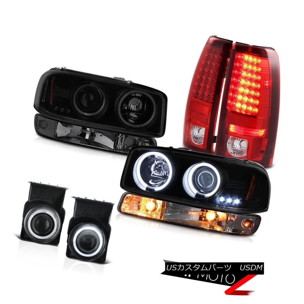 テールライト 03-06 Sierra C3 Fog lights rear brake turn signal darkest smoke ccfl Headlights 03-06シエラC3フォグライトリアブレーキターンシグナルダスト煙ccflヘッドライト