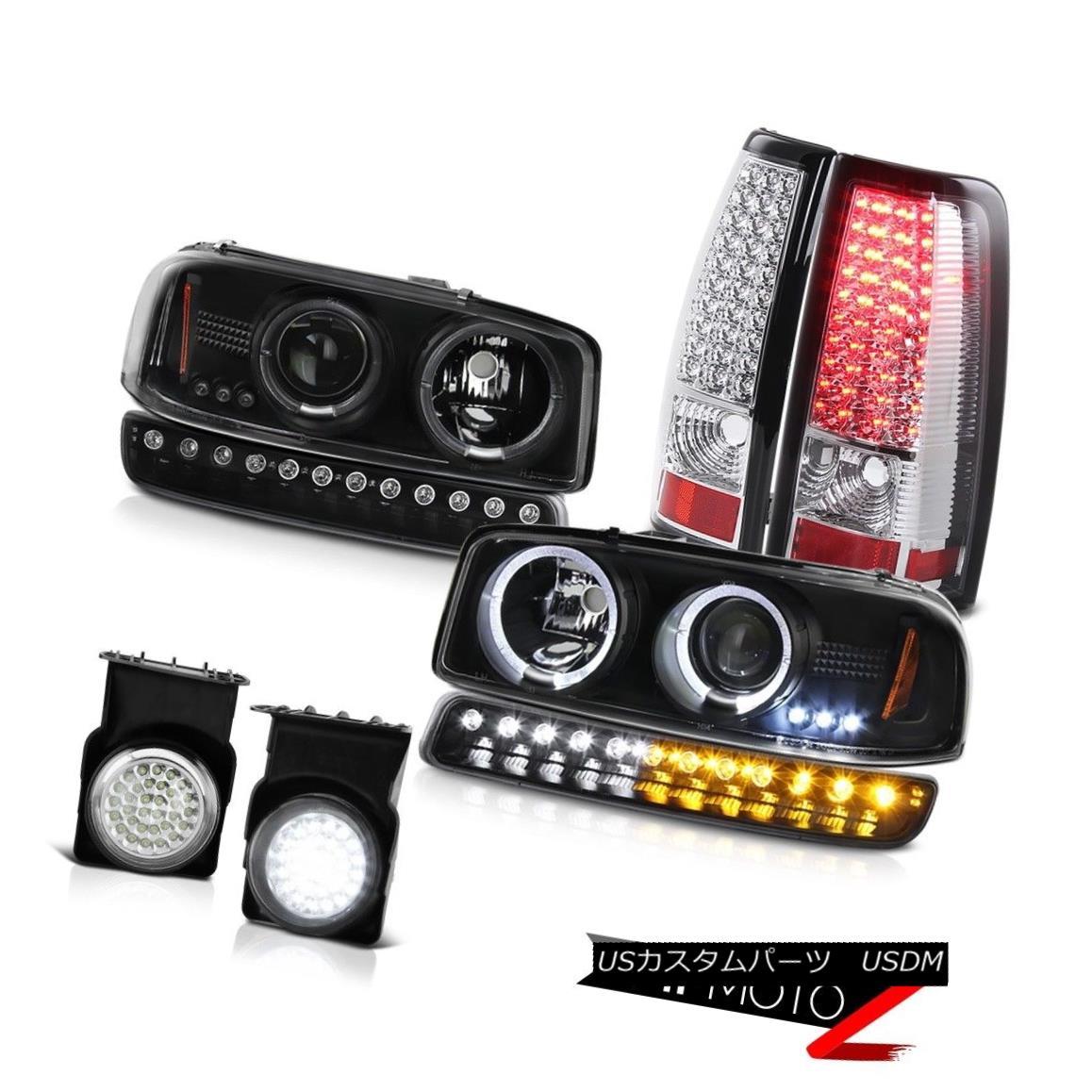 テールライト 2003-2006 GMC Sierra Foglamps smd tail lights black parking light headlights 2003-2006 GMC Sierra Foglamps smdテールライトブラックパーキングライトヘッドライト