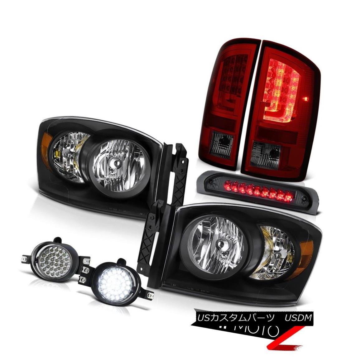 テールライト 2007-2009 Dodge Ram 3500 5.7L Rear Brake Lamps Headlights Fog High STop Light 2007-2009 Dodge Ram 3500 5.7LリアブレーキランプヘッドライトフォグハイSTOPライト