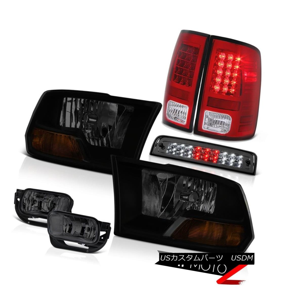 テールライト 09-13 Dodge Ram 1500 Laramie Foglights Third Brake Light Taillamps Headlights 09-13 Dodge Ram 1500 Laramie Foglights第3ブレーキライトタイヤランプヘッドライト
