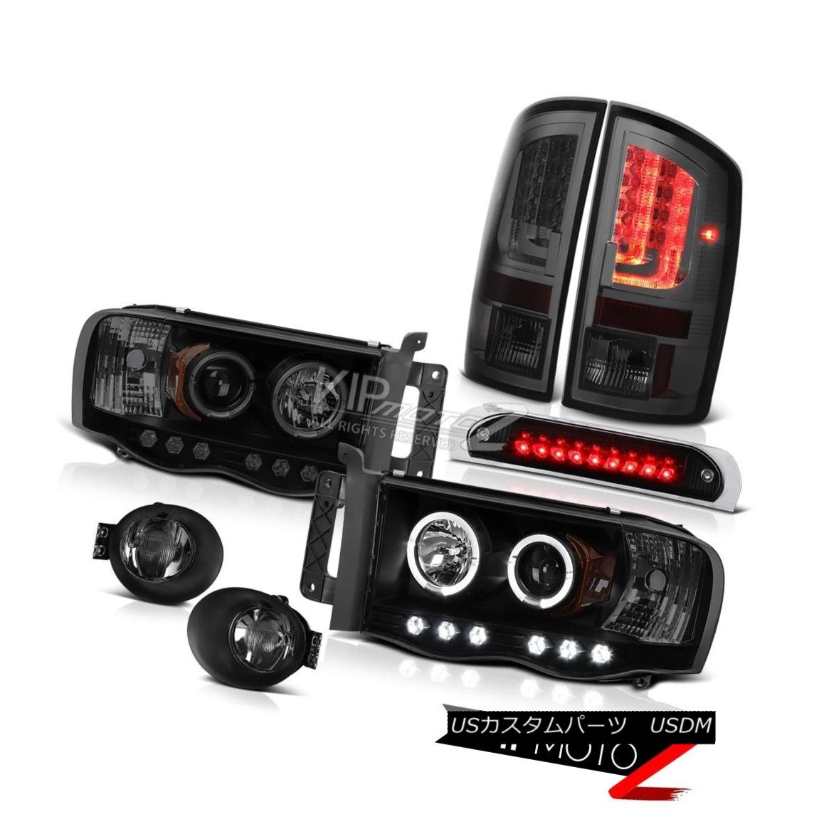 テールライト 02-05 Ram 1500 2500 3500 ST Tail Lights Fog High STop Lamp Headlights Halo Ring 02-05 Ram 1500 2500 3500 STテールライトフォグハイSTopランプヘッドライトHalo Ring