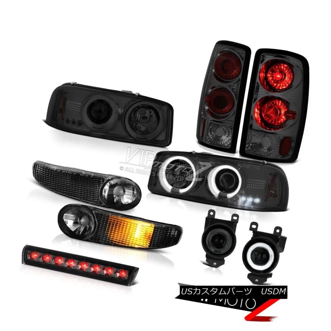 テールライト Halo Headlight Black Bumper Rear Light Foglight 3rd Brake LED 01-06 Yukon Denali HaloヘッドライトブラックバンパーリアライトFoglight 3rdブレーキLED 01-06ユーコンデナリ