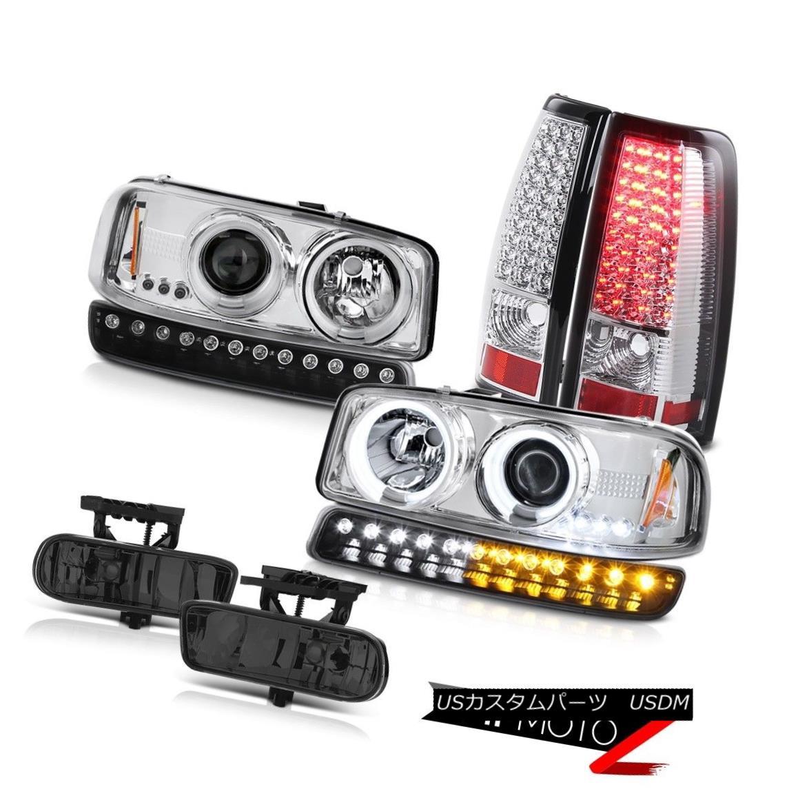 テールライト 99-02 Sierra 5.3L Dark smoke fog lamps led tail bumper light ccfl Headlights 99-02シエラ5.3Lダーク煙霧ランプはテールバンパーライトを導いたccflヘッドライト