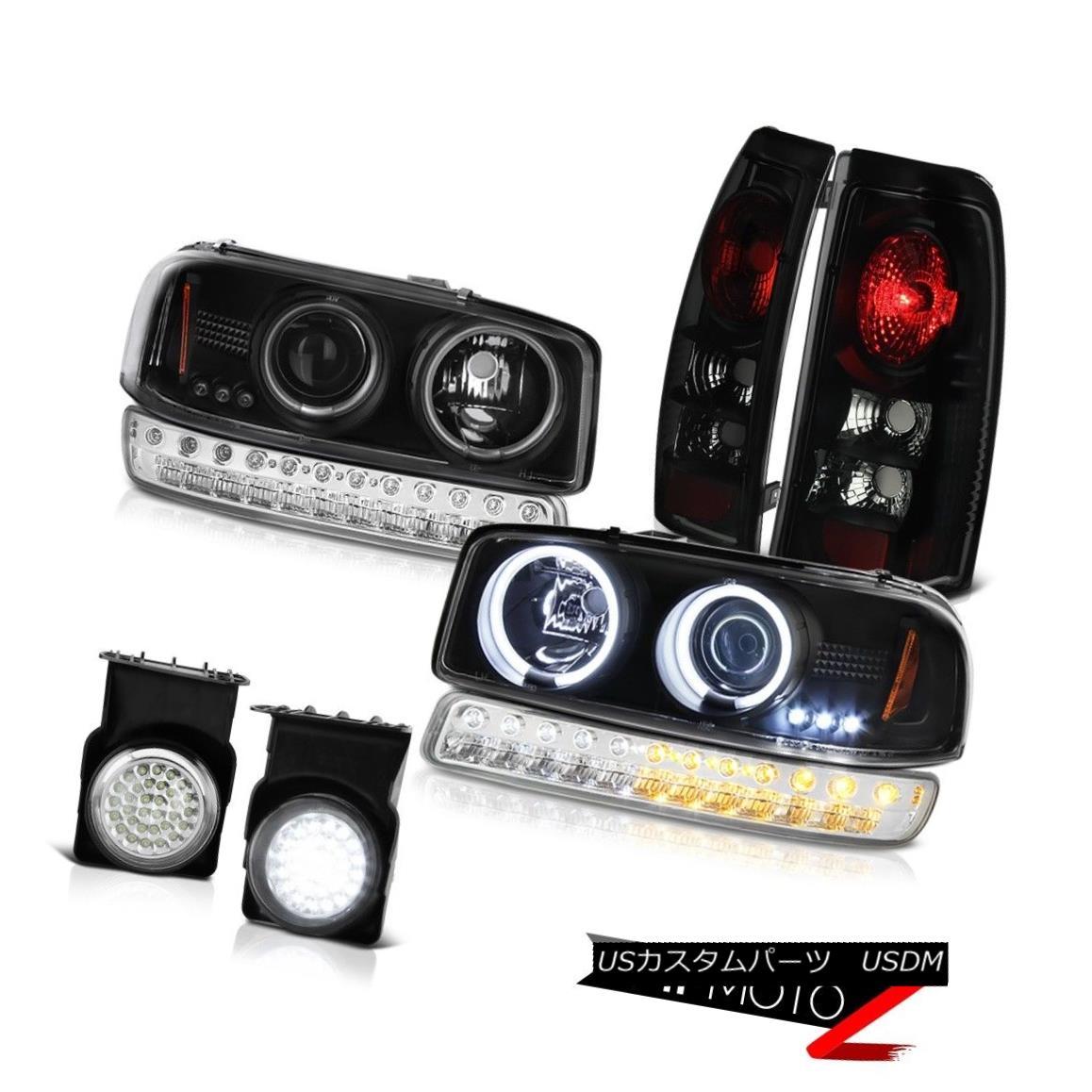 テールライト 03-06 Sierra 5.3L Chrome Foglights Taillights Signal Light Black CCFL Headlights 03-06シエラ5.3Lクロムフォグライトテールライト信号ライトブラックCCFLヘッドライト