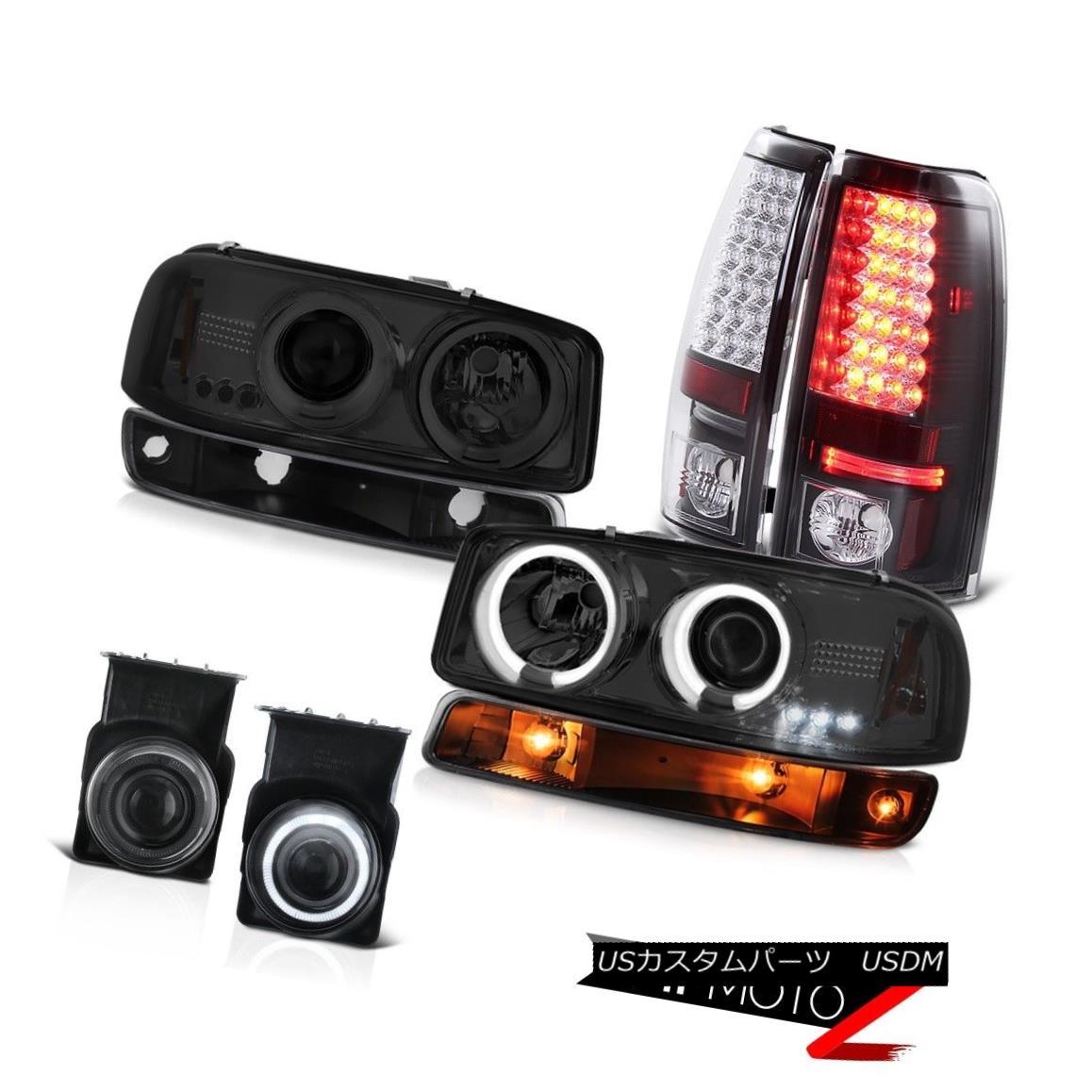 テールライト 2003-2006 Sierra SLT Fog lights black tail lamps signal lamp ccfl headlights 2003-2006シエラSLTフォグライトブラックテールランプ信号ランプccflヘッドライト
