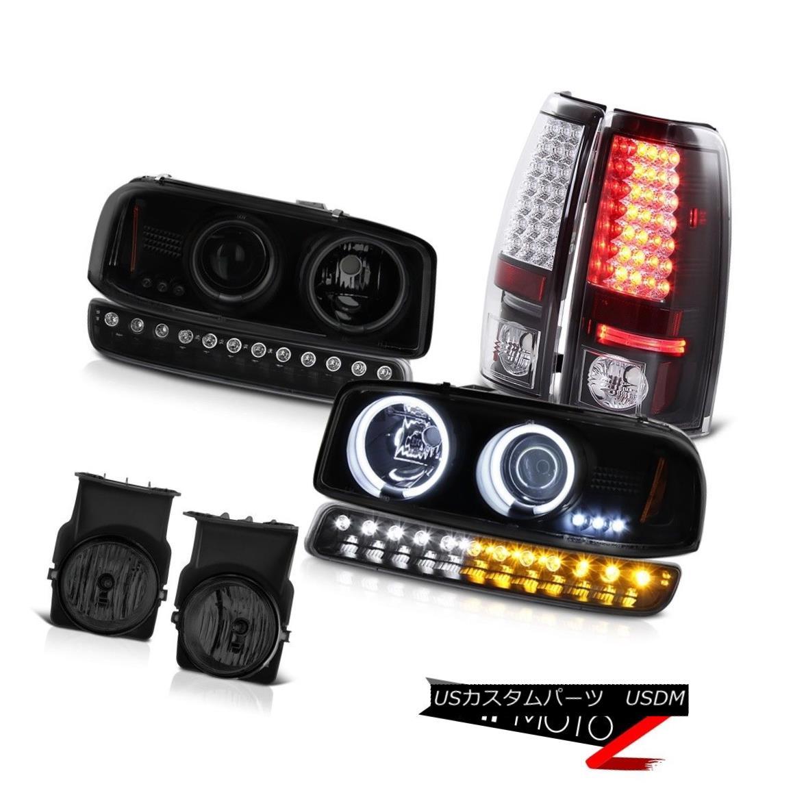 テールライト 2003-2006 Sierra 2500 Fog lights black rear smd brake parking light Headlights 2003-2006シエラ2500フォグライトブラックリアsmdブレーキパーキングライトヘッドライト