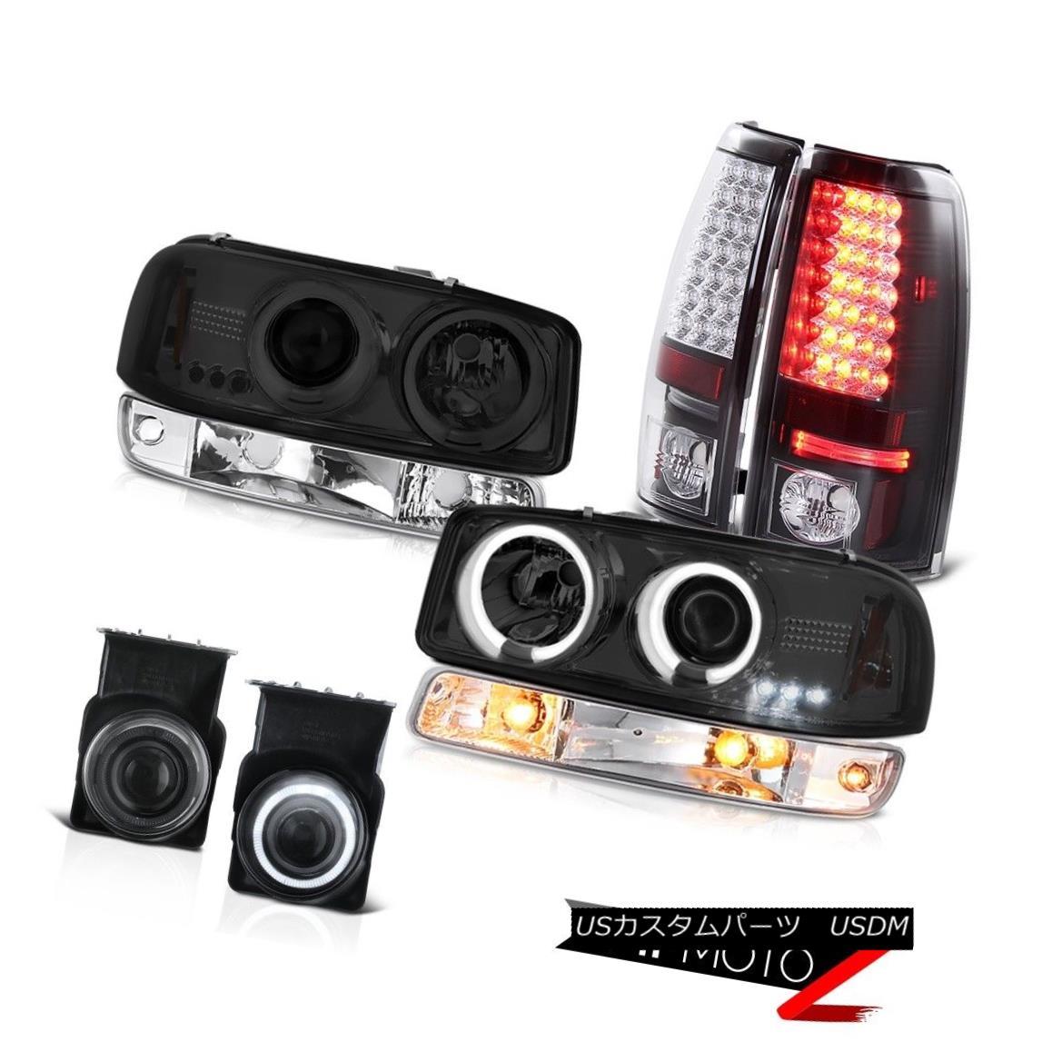 テールライト 03-06 Sierra C3 Dark smoke foglamps tail brake lamps bumper lamp ccfl headlights 03-06シエラC3ダークスモークフォグランプテールブレーキランプバンパーランプccflヘッドライト