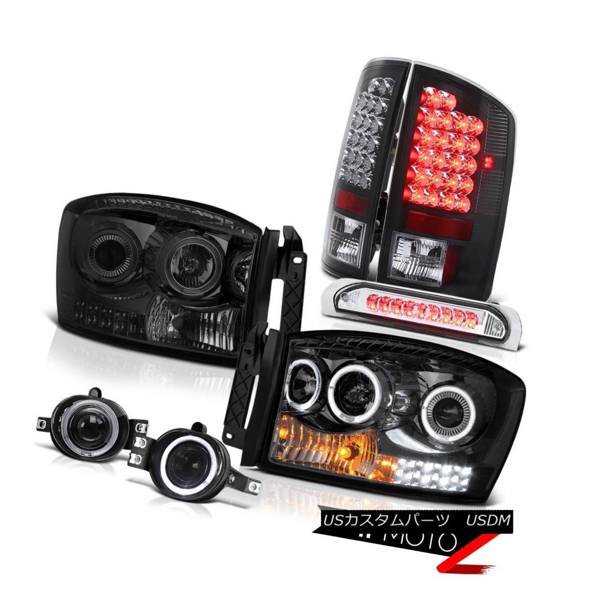 テールライト 07-08 Dodge Ram 1500 SLT Headlamps Foglights Third Brake Light Tail Lamps LED 07-08ダッジラム1500 SLTヘッドランプフォグライト第3ブレーキライトテールランプLED