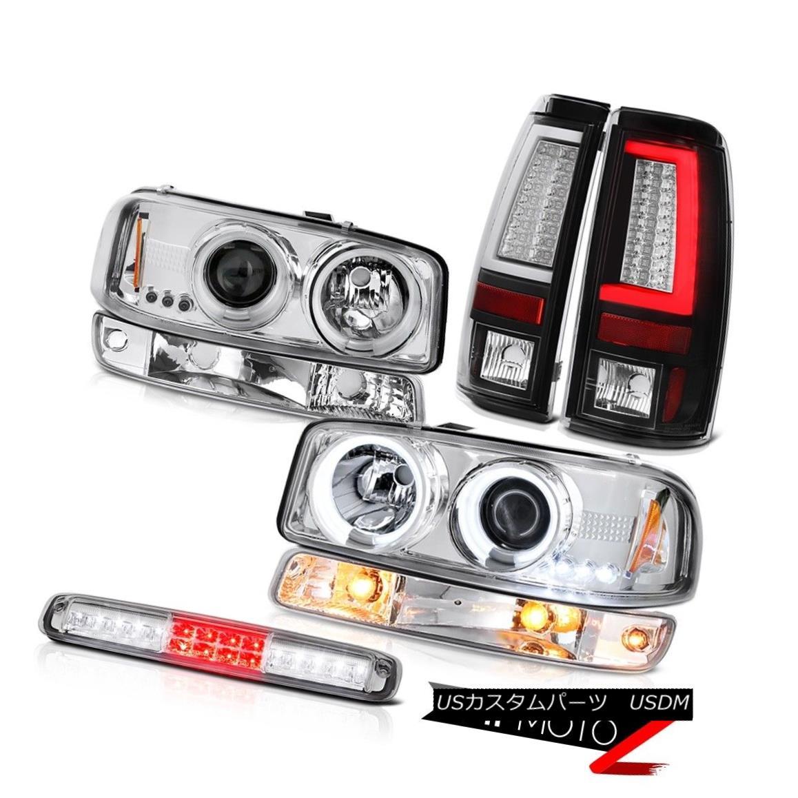 テールライト 99-06 Sierra SLE Tail Lamps 3RD Brake Lamp Bumper CCFL Headlamps LED Dual Halo 99-06シエラSLEテールランプ3RDブレーキランプバンパーCCFLヘッドランプLEDデュアルヘイロー