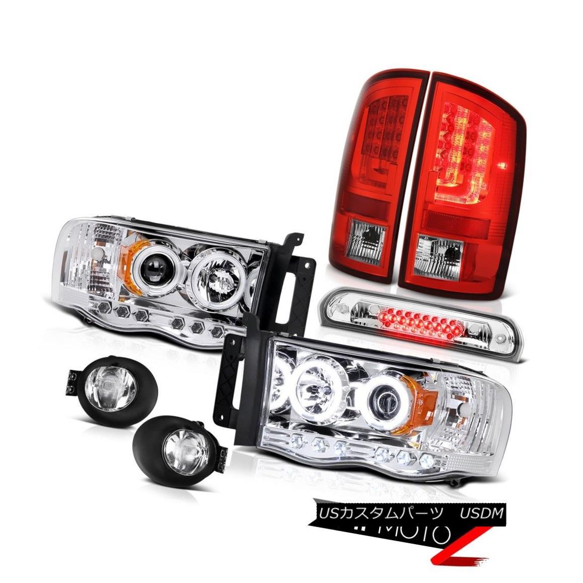 テールライト 02-05 Dodge Ram 2500 1500 3.7L Tail Lamps Foglamps Headlights Third Brake Light 02-05 Dodge Ram 2500 1500 3.7Lテールランプフォグランプヘッドライト第3ブレーキライト