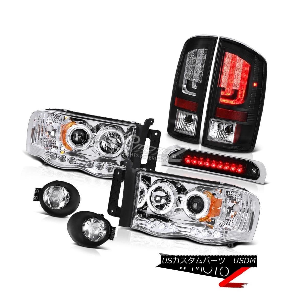 テールライト 2003-2005 Dodge Ram 2500 SLT Black Taillights Fog Lamps Roof Cab Lamp Headlamps 2003-2005ダッジ・ラム2500 SLTブラック・テールライトフォグ・ランプルーフキャブ・ランプヘッドランプ