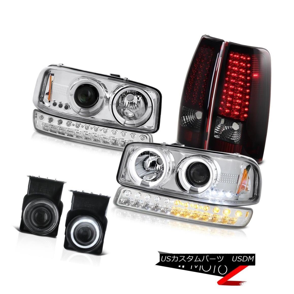テールライト 2003-2006 Sierra SL Smoked Fog Lights Red Rear SMD Brake Parking Lamp Headlamps 2003-2006シエラSLスモークフォグライトレッドリアSMDブレーキパーキングランプヘッドランプ