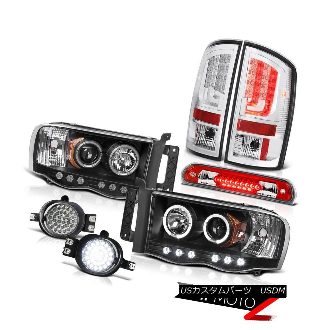 テールライト 02-05 Dodge Ram 1500 1500 4.7L Tail Lights Headlamps Fog Roof Cargo Light LED 02-05 Dodge Ram 1500 1500 4.7Lテールライトヘッドランプ霧屋根カーゴライトLED