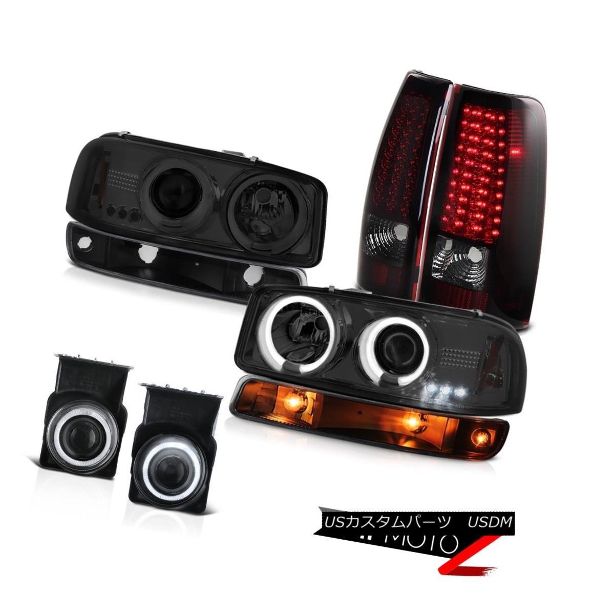 テールライト 03-06 Sierra 4.3L Fog lights led tail inky black signal lamp ccfl Headlights 03-06シエラ4.3Lの霧のライトは、尾のinky黒の信号ランプccflヘッドライトを導いた