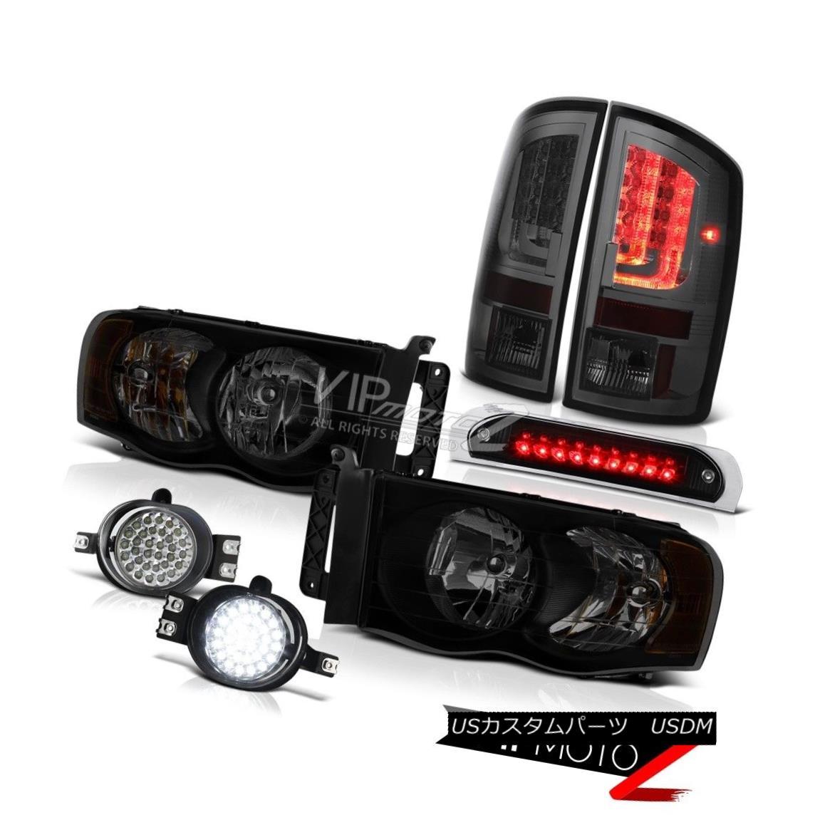 テールライト 02-05 Dodge Ram 1500 2500 SLT Taillights High STop Lamp Headlights Fog Lamps LED 02-05 Dodge Ram 1500 2500 SLT灯台ハイストップランプヘッドライトフォグランプLED