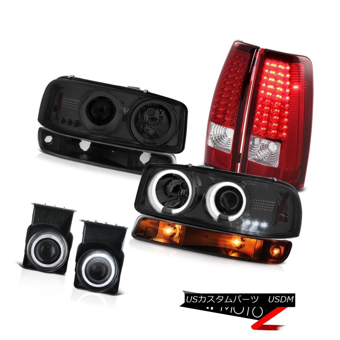 テールライト 2003-2006 Sierra C3 Chrome fog lamps red tail signal light smoked ccfl Headlamps 2003-2006シエラC3クロームフォグランプレッドテールシグナルライトccflヘッドランプ
