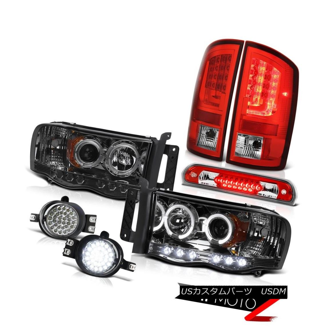 テールライト 02-05 Dodge Ram 1500 2500 WS Red Roof Cargo Lamp Fog Lamps Tail Headlights SMD 02-05ダッジラム1500 2500 WSレッドルーフ貨物ランプフォグランプテールヘッドライトSMD