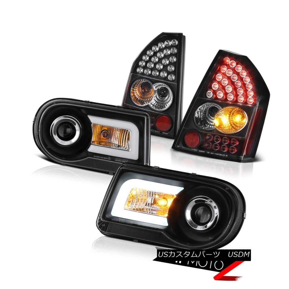 テールライト 2008-2010 Chrysler 300C 5.7L Angel Eye Teach Headlights Tail Lights Assembly LED 2008-2010クライスラー300C 5.7LエンジェルアイティーチヘッドライトテールライトアセンブリLED