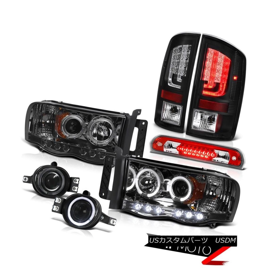 テールライト 02-05 Ram 1500 2500 3500 5.9L Taillights Headlights Foglights Red 3RD Brake Lamp 02-05 Ram 1500 2500 3500 5.9L曇りヘッドライトフォグライト赤3RDブレーキランプ