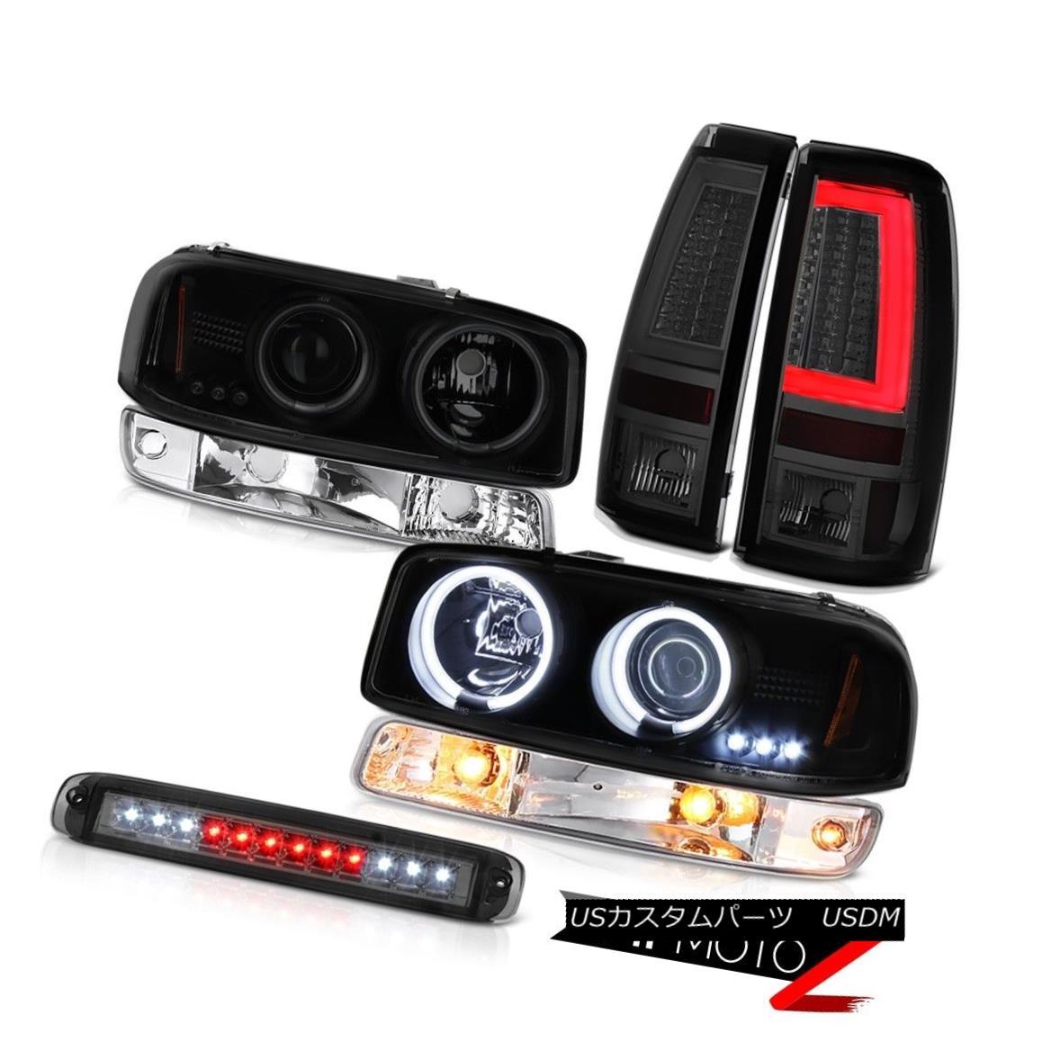 テールライト 99-06 Sierra SLT Rear Brake Lights 3RD Lamp Turn Signal CCFL Headlamps Halo Ring 99-06シエラSLTリアブレーキライト3RDランプターンシグナルCCFLヘッドランプハローリング