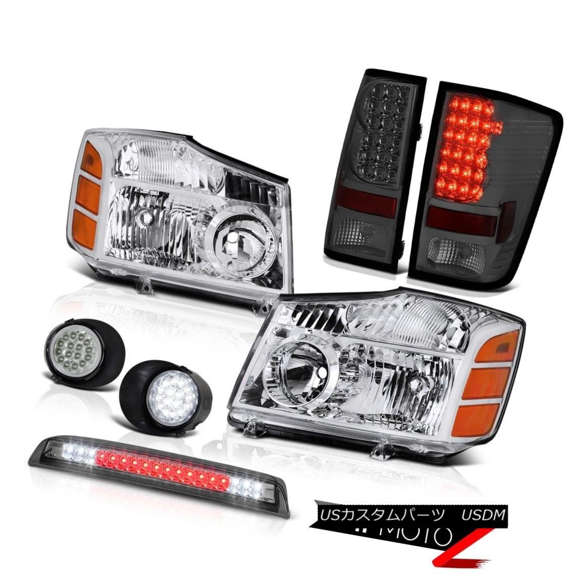 テールライト For 04-2015 Titan Pair Headlight Tail Light SMD Foglights Smoke Third Brake LED 04-2015のためのタイタンのペアヘッドライトテールライトSMDのフォグライト煙の第3ブレーキLED